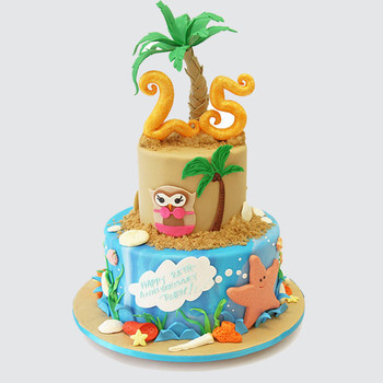 tropical-themed-cake